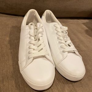 H&M white leather shoes size 8.5